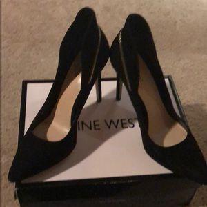 Nine West suede zipper detail shoes